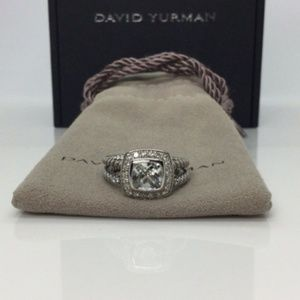 David Yurman Petite Albion White Topaz Ring